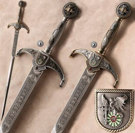 SWORDS WITH DRAWING OF A DRAGOON