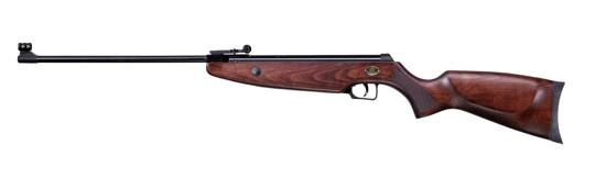 Norica Krono airgun with hardwood american stock and slip grip.