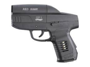 Umarex red hawk co2 airgun with red dot scope incorporated.