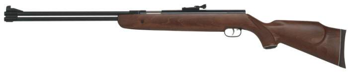 Fixed barrel Weihrauch HW 77 air rifle with american hardwood stock.