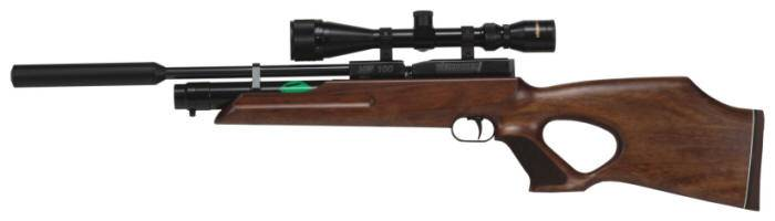 Weihrauch HW 100 TK pump air rifle with pistol grip design.