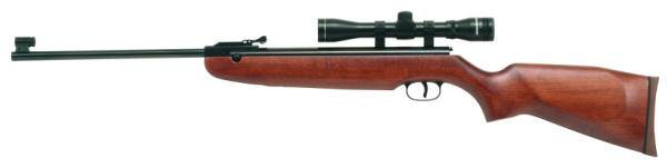 Weihrauch air rifle with American hardwood stock and rubber recoil.