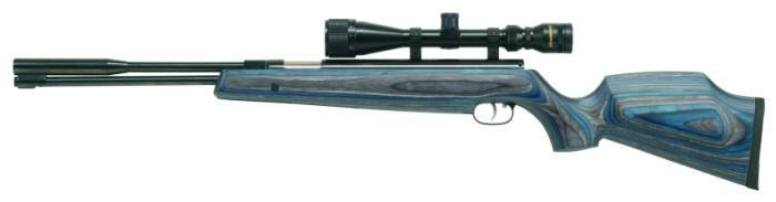Weihrauch  HW 97 K Blue airgun with entire barrel.