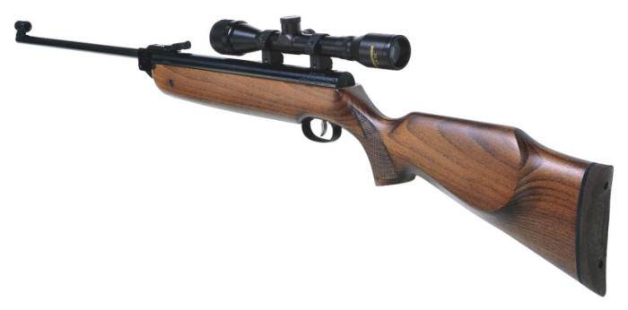 Weihrauch PCP HW 80 air rifle with chequered slip grip design.