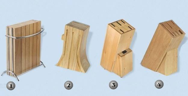 Tacos de cuchillos de madera martinez albainox for Carritos de cocina de madera