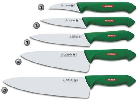 Cuchillos de cocina verdes tres claveles for Cuchillos de cocina
