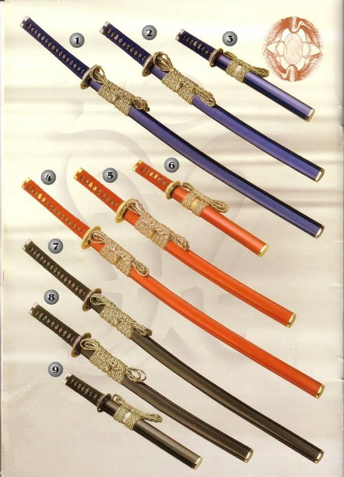 Katana, Wakizashi y Tanto. Espadas orientales
