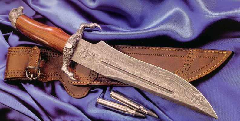 Cuchillos artesanales fabricados con acero damasco taringa - Cuchillo de cocina acero damasco ...