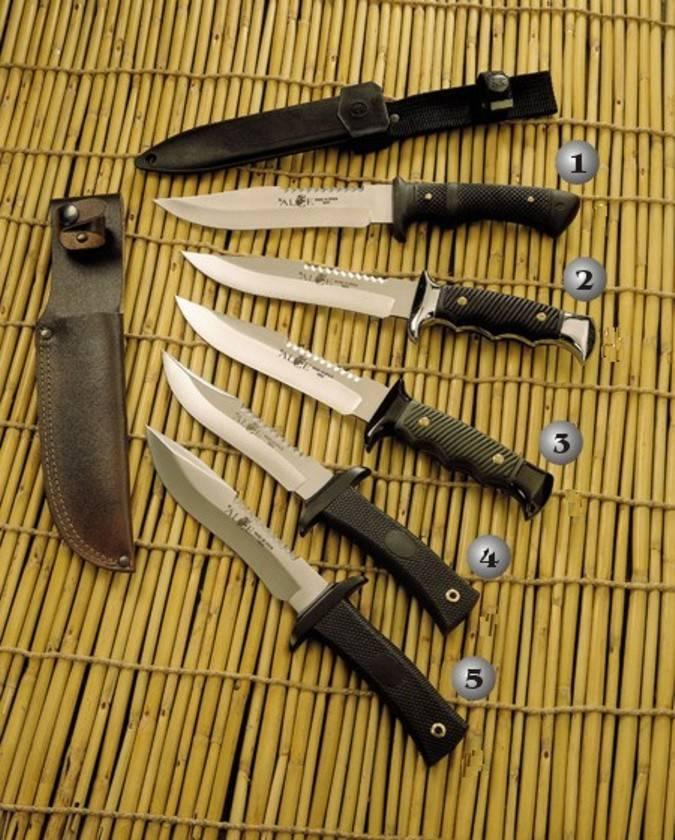 Cuchillos Muela Alce con el mano de goma negra y zamak