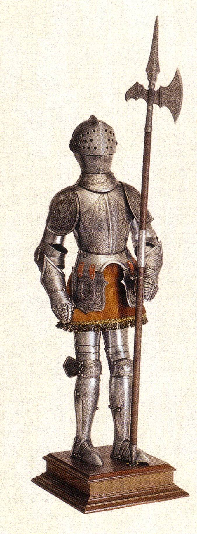 Armadura medieval en miniatura