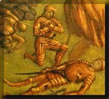 Los escuderos ayudaban y proteg�an a su caballero, adem�s, en el caso de que murieran deb�an hacerles un entierro digno