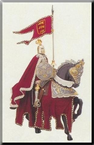 Tanto el caballero como el caballo solían usar armaduras medievales para protegerse en las batallas