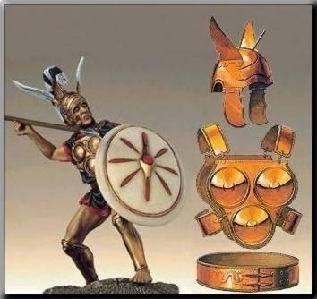 Guerrero samnita y armadura de discos