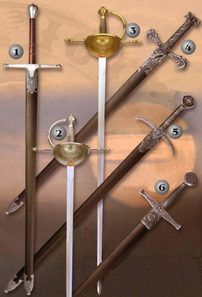 Espadas históricas realizadas por Gladius