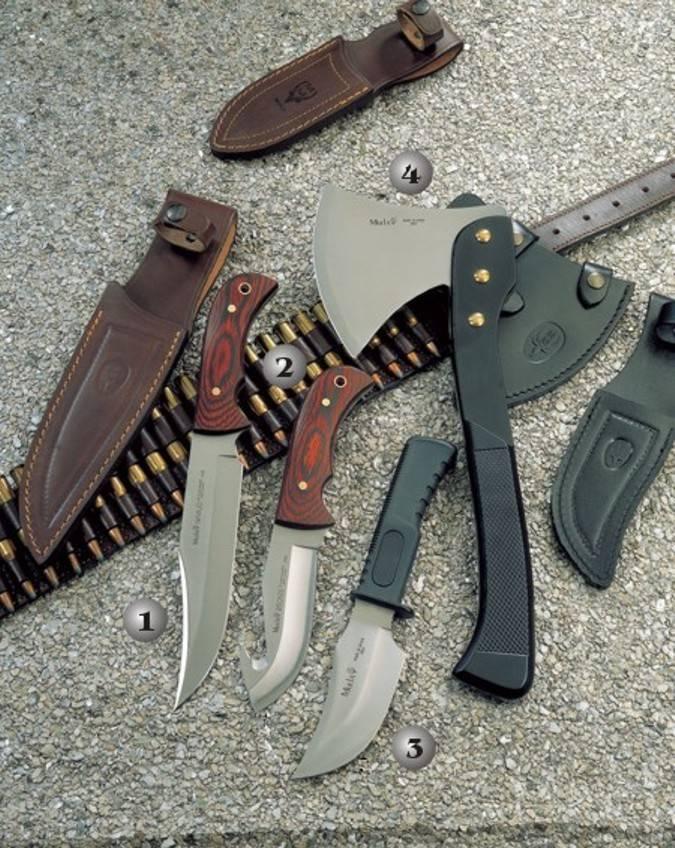 Cuchillos y hacha de de caza Muela