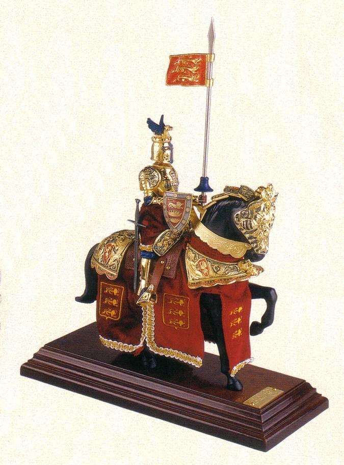 Caballo medieval en miniatura