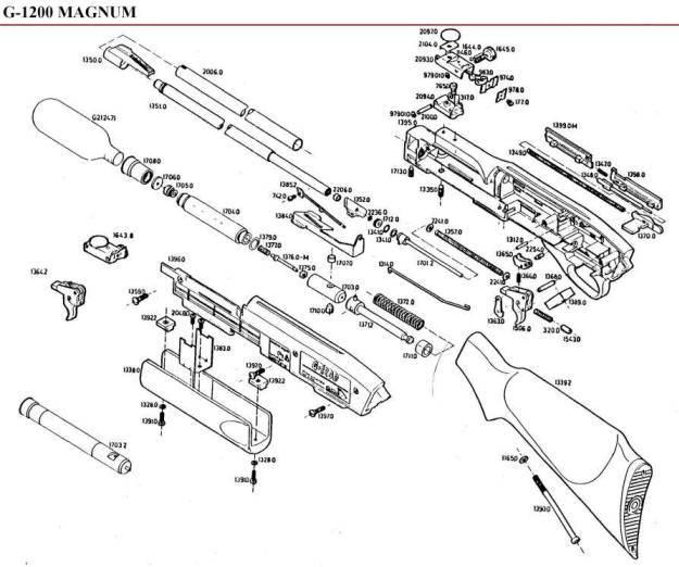 Carabina Gamo G-1200 Magnum de aire comprimido.