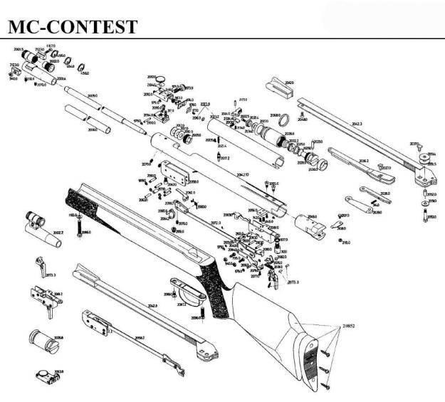 Carabina Gamo MC Contest de aire comprimido.
