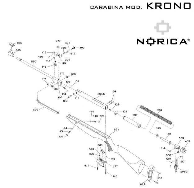 Carabinas deportivas Norica. Carabina Norica Krono.