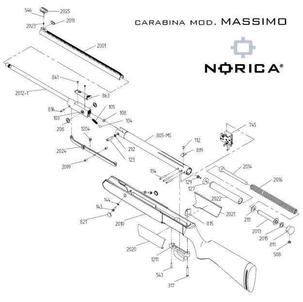 Carabina Norica Massimo de aire comprimido.
