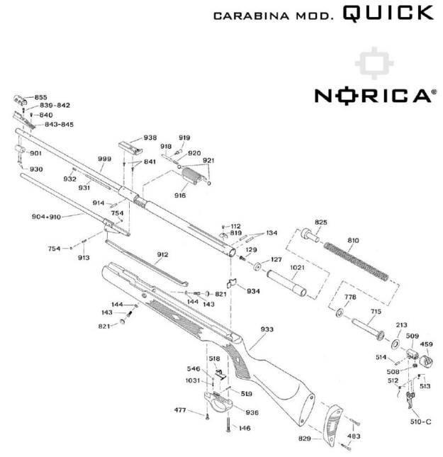 Carabinas Norica de aire comprimido. Carabina Norica Quick.