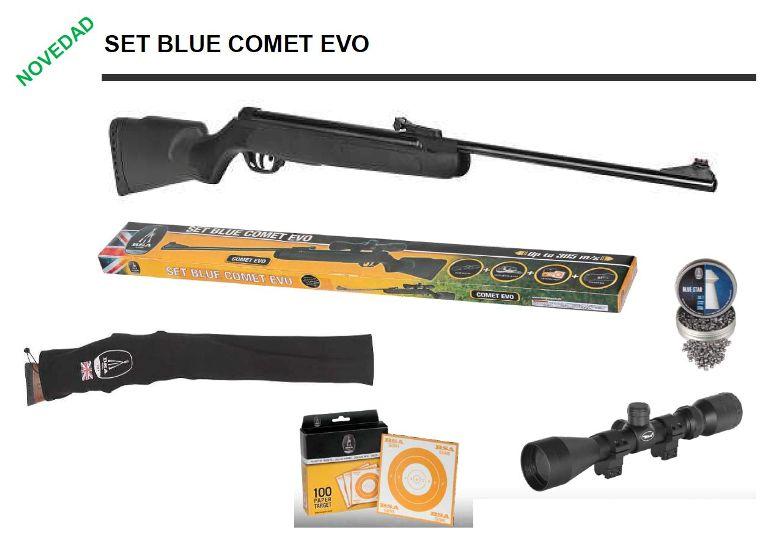 Carabina de aire comprimido BSA Set Blue Comet Evo 4,5 mm
