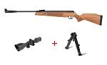 Airgun rifle cometa Fenix 400 Premier GP Sniper pack with scope and bipod