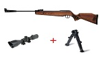 Cometa Fenix 400 Sniper air rifle Pack with wood stock and precision barrel.