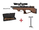Wood Orion Bull Pup Mini Cometa PCP + Hill Pump + Scope airgun pack