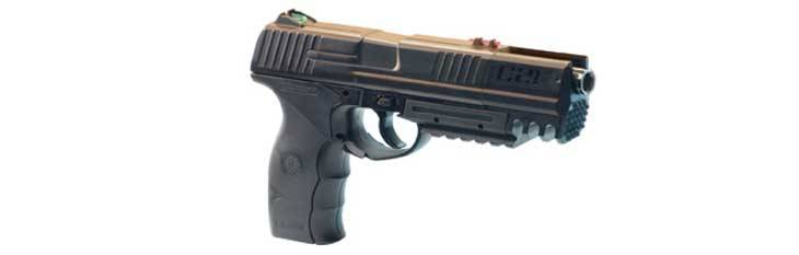 Pistolas de CO2 Crosman C21.