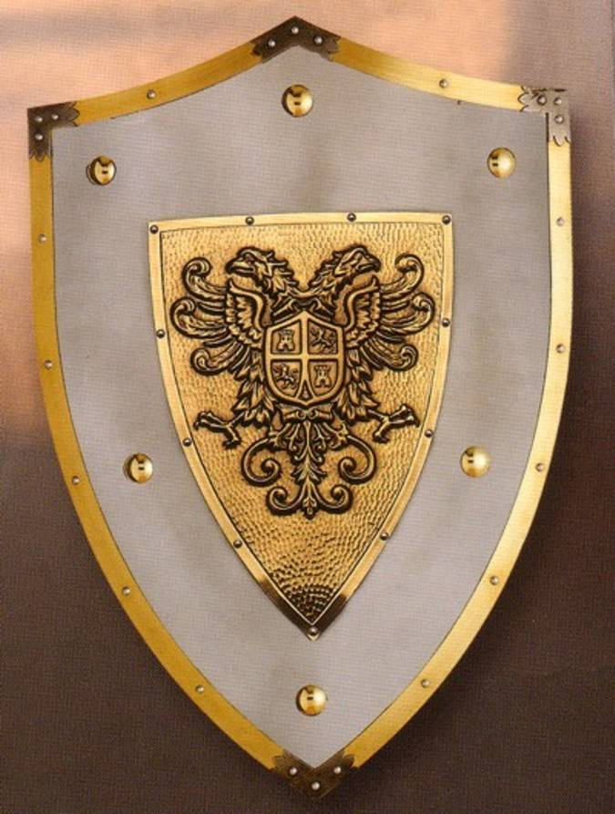 Reproducción de los escudos medievales. Los escudos servían para ...