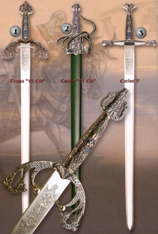 Espadas del Cid y Espada Carlos V