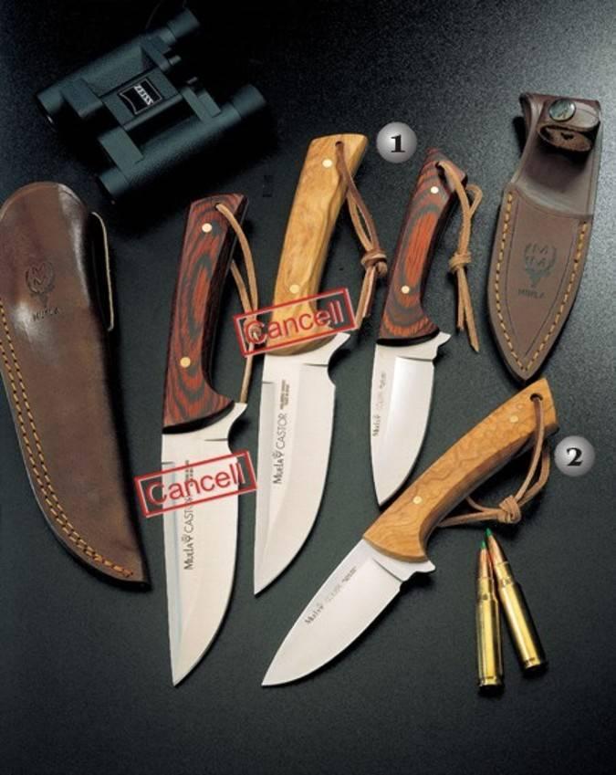 Cuchillos Muela con las cachas de madera
