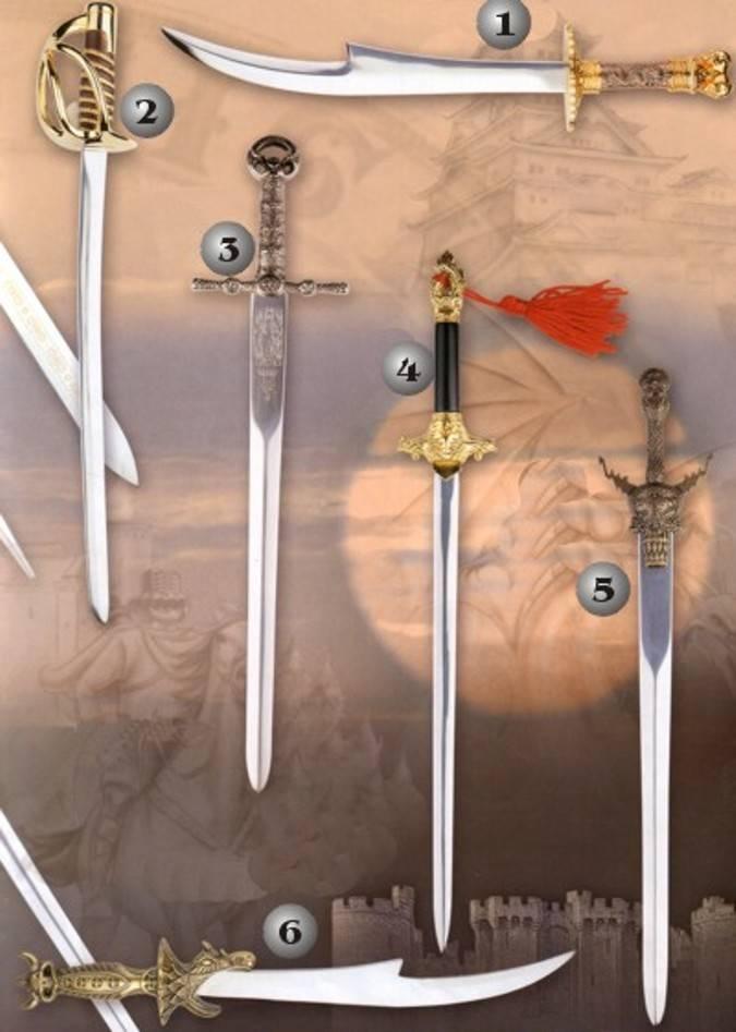 Espadas en miniatura