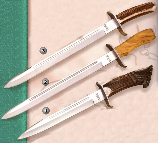 Cuchillos Joker CN31, CO30 y CC30. Cuchillos de bayoneta.