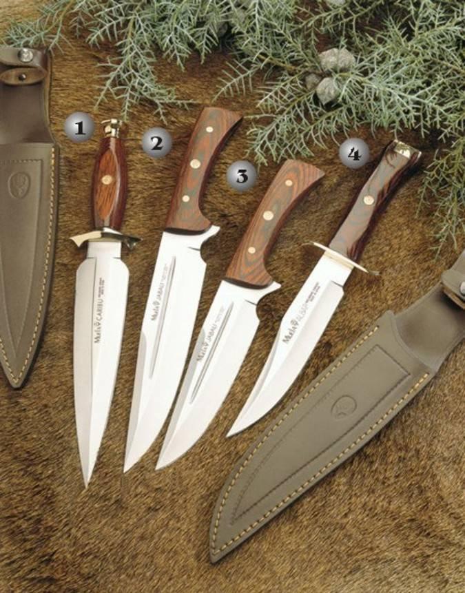 Cuchillos Muela, caribu, jabali y albar