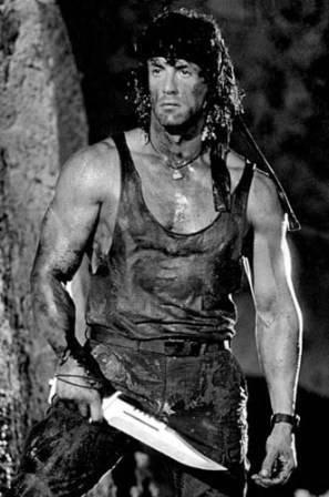 La figura de Rambo impulsó la producción de cuchillos de supervivencia