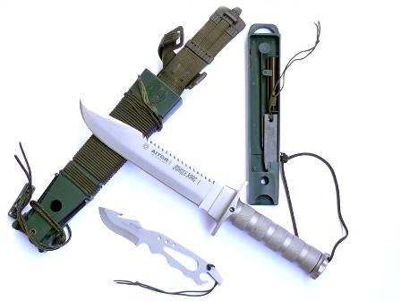 El kit de supervivencia del cuchillo Jungle King