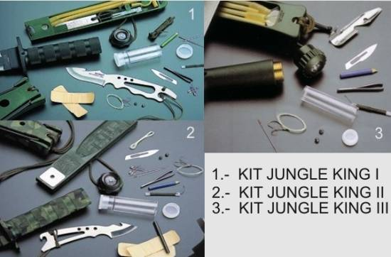 Kit de supervivencia de los cuchillos Jungle King de Aitor