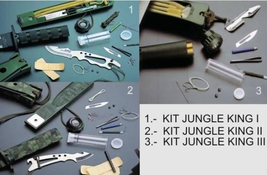 Kit de supervivencia de los cuchillos Jungle King de Aitor