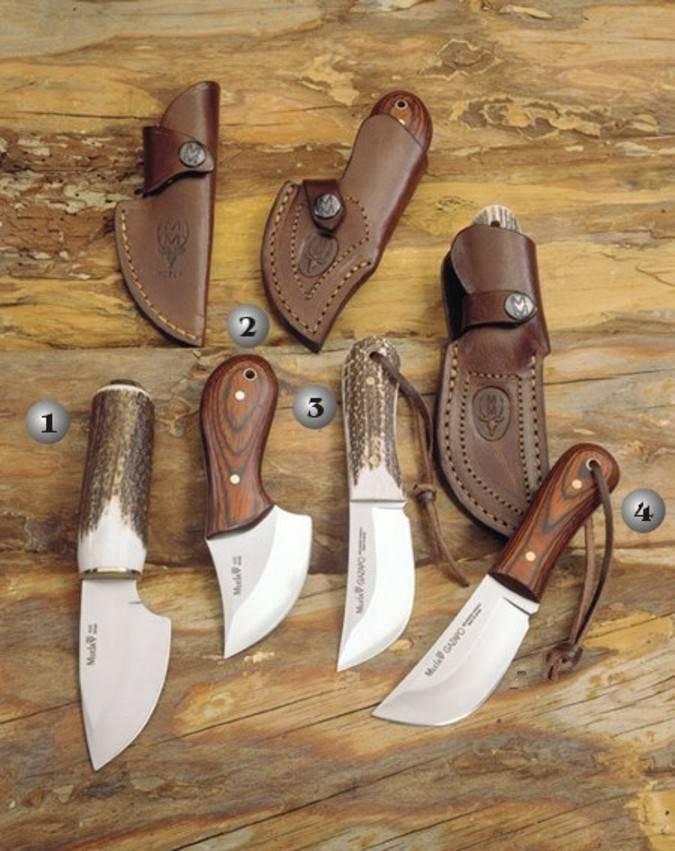 Cuchillos Muela gazapo, piranha y mouse