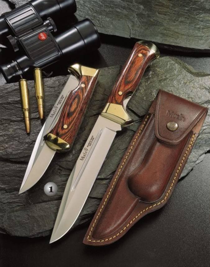 Cuchillo plegable Muela con el mango de madera y latón