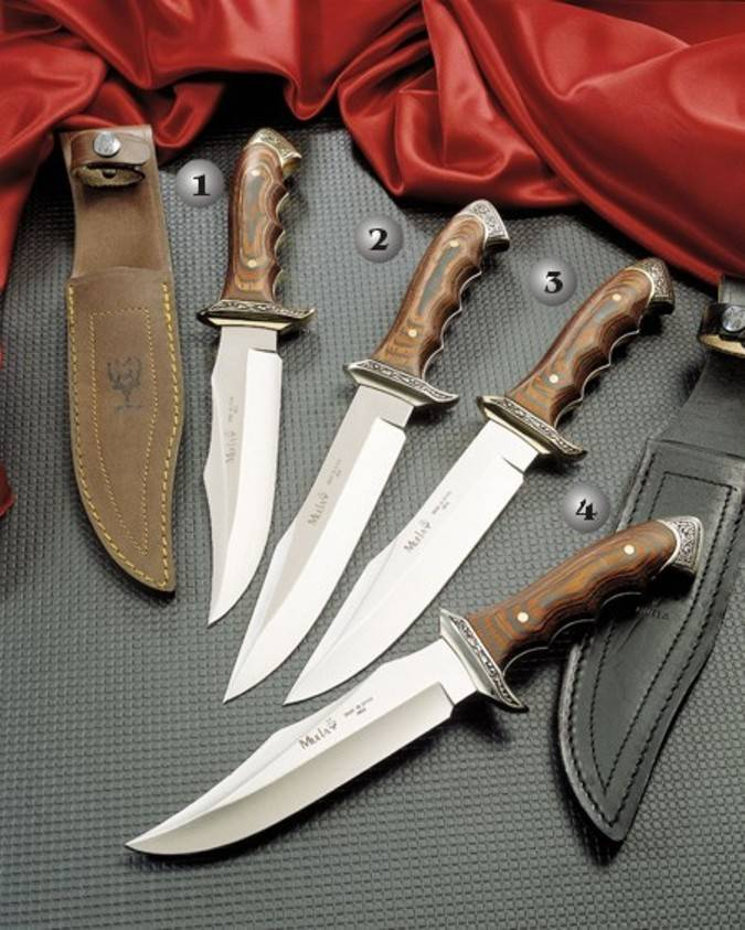 Cuchillos venecia Muelacon el puño de madera