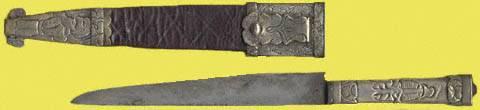 Cuchillo facón con empuñadura grabada