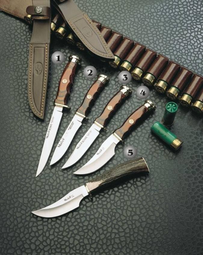Cuchillos Muela con el mango de madera prensada y asta de ciervo