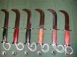 Cuchillos corvos y atacameños chilenos