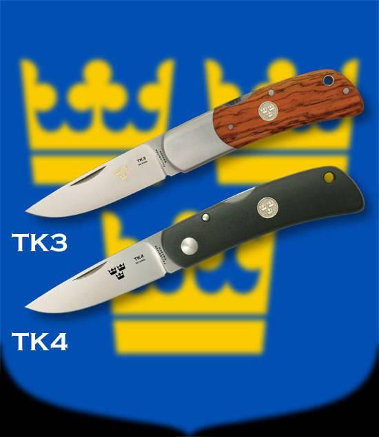 Navajas Fallkniven fabricadas en Suecia.