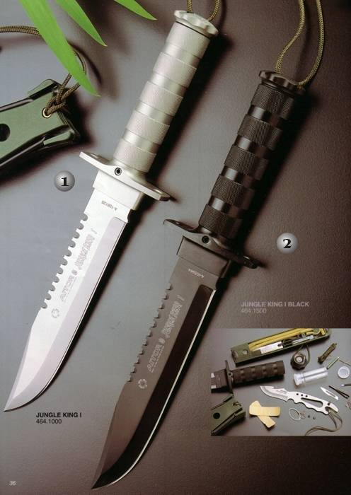 Cuchillos Aitor De Supervivencia Jungle King I Blanco Y Negro