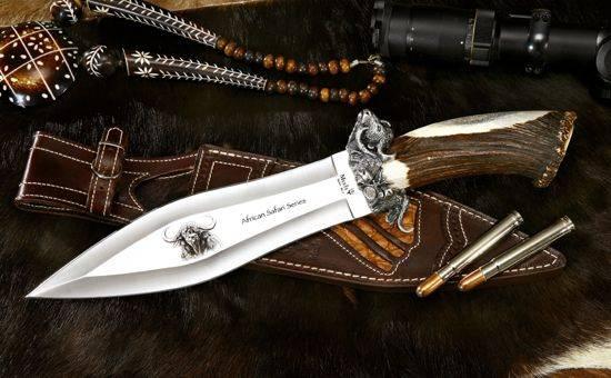 Cuchillos de lujo Muela Safari Búfalo.