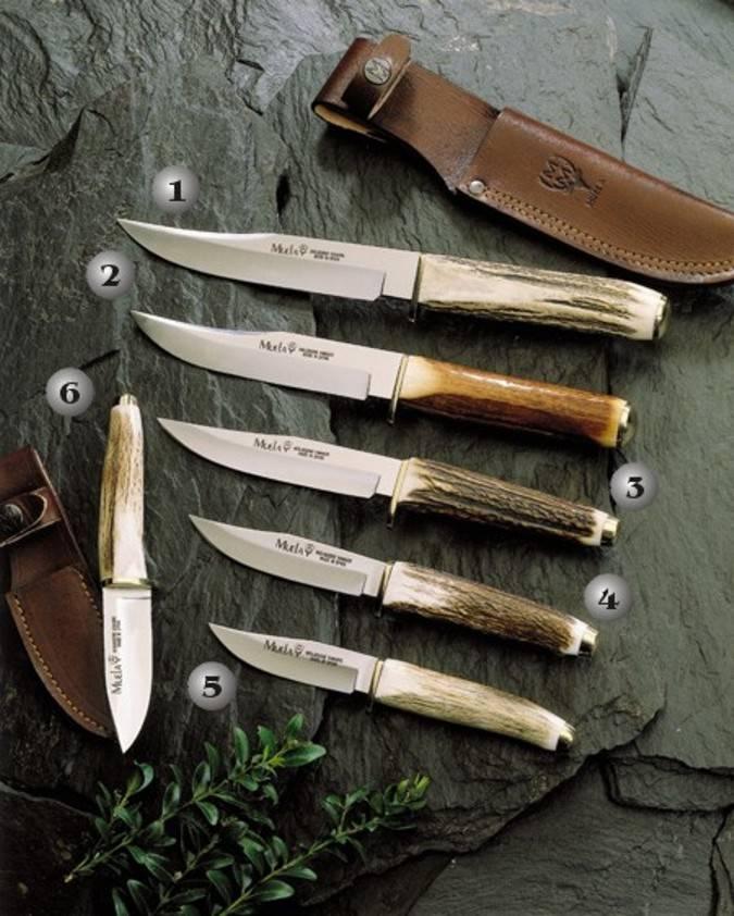 Cuchillos Muela con el mango de ciervo